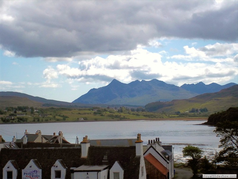 Portree view of the Cuilins 1